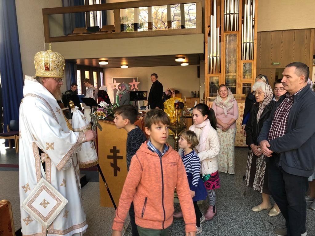На Богоявленском приходе г. Пфорцхайме совершено архиерейское богослужение